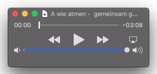 """akustische Übung zu """"A"""" wie """"Atmen – von mir für euch"""